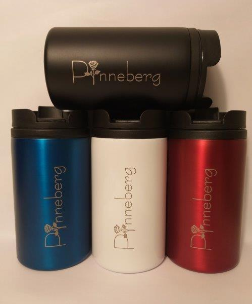 "Coffe to Go ""Thermobecher"" mit Pinneberger Rosenmotiv"